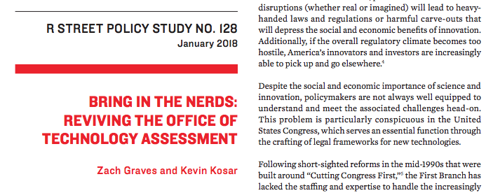 Bring in the nerds: Reviving the Office of Technology Assessment