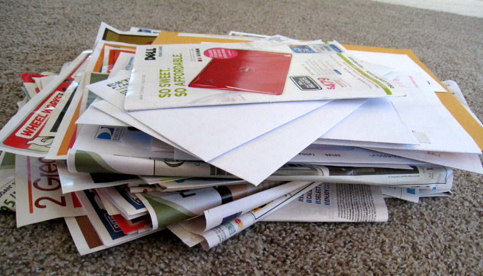 How to Reduce Junk Mail (AKA Unwanted Advertising Mail )