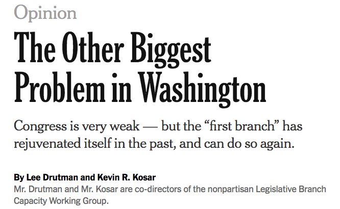 The other biggest problem in Washington